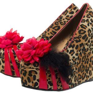 Bettie Paige leopard wedges